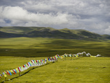 Prayer Flags Hanging Enroute to Nagqu from Baqen