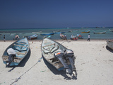 Fishing Boats on the West Coast of Socotra Island
