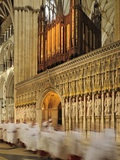 High Church Services in the Giant Gothic Cathedral of York Minster