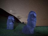 Ancient Moai Statues Dot a Hillside on Rano Raraku Crater