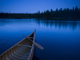 A Canoe on Maine&#39;s Allagash River