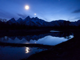 The Moon over the Teton Range
