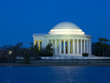 The Jefferson Memorial and Tidal Basin in Early Evening