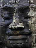 A Carved Stone Face at Bayon Temple