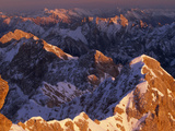 The Wetterstein Range Seen from Germany's Highest Mountain  Zugspitze