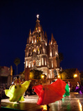 Traditional Dance Performance in Front of the Parroquia
