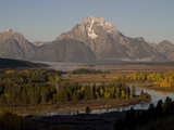 Fall Colors and Mount Moran over Oxbow Bend