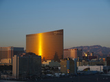 Hotels and Casinos Along the Las Vegas Strip at Sunset