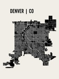 Denver Reproduction d'art par Mr City Printing