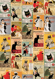 Gatti Vintage - Vintage Style Cat Poster Collage