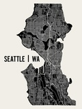 Seattle Reproduction d'art par Mr City Printing
