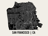 San Francisco Reproduction d'art par Mr City Printing