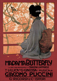 Madam Butterfly (G Puccini) - Vintage Style Opera Poster
