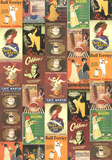 Caffe - Vintage Coffee Advertisement Poster Collage