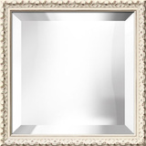 Hampton White Square Mirror