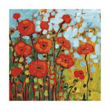 Red Poppy Field Reproduction d'art par Jennifer Lommers