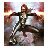 Secret Avengers 15 Cover: Black Widow Crouching and Shooting