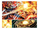 Avengers 121: Panels with Thor and Ultron Fighting
