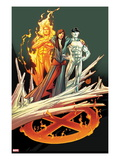 Ultimate Fallout No3 Cover: Kitty Pryde  Human Torch  and Iceman