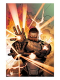 Iron Man 20 11 Cover: War Machine Shooting Energy