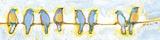 Eight Little Bluebirds Reproduction d'art par Jennifer Lommers