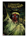 The Amazing Spider-Man No666 Cover: Spider-Man Painted on the Statue of Liberty