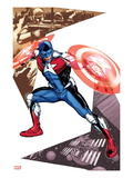 Captain America Corps 5 Cover: Commander A Croching and Posing
