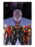 Shadowland 2 Cover: Daredevil  Spider-Man  Elektra  Iron Fist  White Tiger  Moon Knight  Kingpin
