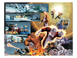 Chaos War: Alpha Flight No1: Guardian  Sasquatch  Shaman  Northstar  Aurora  Marina  & Vindicator