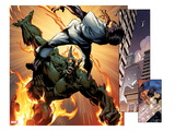 Ultimate Spider-Man No157: Panels with Green Goblin Fighting and Flaming