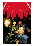 Daredevil 509 Cover:  Iron Fist  Luke Cage  and Daredevil Posing