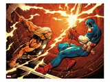 Ultimate New Ultimates 4: Thor and Captain America Fighting