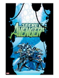Secret Avengers 21 Cover: Steve Rogers  Sharon Carter  Valkyrie  Moon Knight  and Others