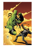 Marvel Universe vs The Punisher No2 Cover: Hulk Fighting Punisher