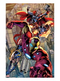 Avengers: Age of Ultron No01: Iron Man  Thor  and Protector Flying