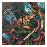 Herc No4 Cover: Hercules Fighting and Slashing a Sea Monster