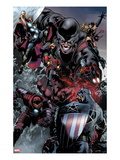 The Thanos Imperative 5: Captain America  Iron Man  Quasar  Thor  Giant Man  and Captain Marvel