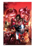 Avengers: The Childrens Crusade 9 Cover: Patriot  Dr Doom  Cyclops  Magneto  and Others