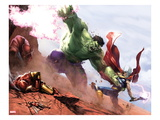New Avengers Annual 1: Hulk and Thor Fighting