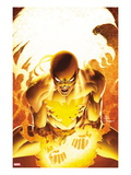 New Avengers 25 Cover: Iron Fist Screaming