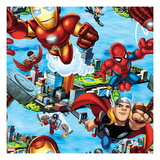Marvel Super Hero Squad: Thor  Iron Man  Wasp  Falcon  and Spider-Man Flying