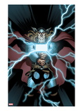 Astonishing Thor 2 Cover: Thor Holding Mjonir