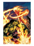 Incredible Hulk & The Human Torch: From the Marvel Vault No1 Cover: Fighting and Flaming