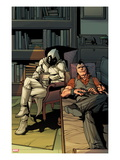Daken: Dark Wolverine 13 Cover: Daken and Moon Knight Sitting