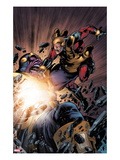 The Thanos Imperative No5: Captain America and Thanos Fighting