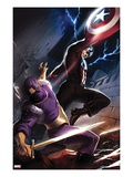 Captain America No610 Cover: Captain America and Baron Zemo Fighting