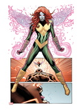Uncanny X-Men No541: Hope Summers over Panels with the Juggernaut Screaming