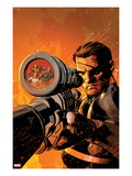 New Avengers 9 Cover: Nick Fury Standing with a Gun