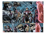 Avengers No9: Panels with Steve Rogers  Thor  Wolverine  Iron Man  Mr Fantastic and Others