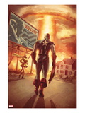Captain America: Patriot No4 Cover: Captain America Walking